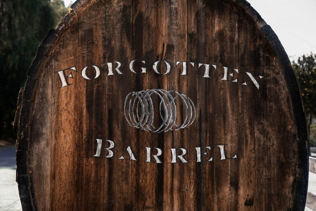 Hand Lettered Signage by Amarie Design Co. for Forgotten Barrel Winery in San Diego, California