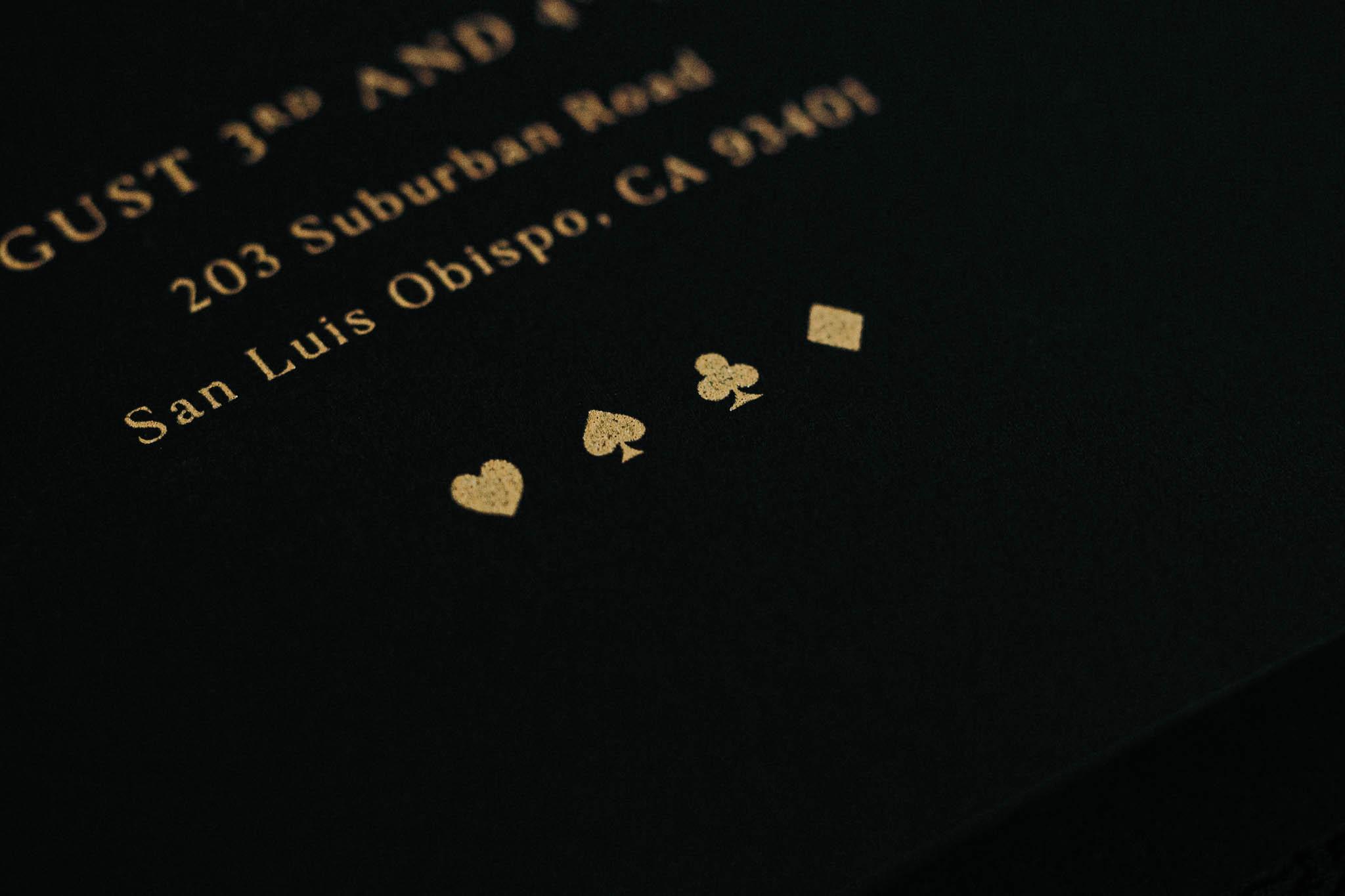 San Luis Obispo Graphic Designer Amarie Design Co.'s Custom Invitation Suite Design