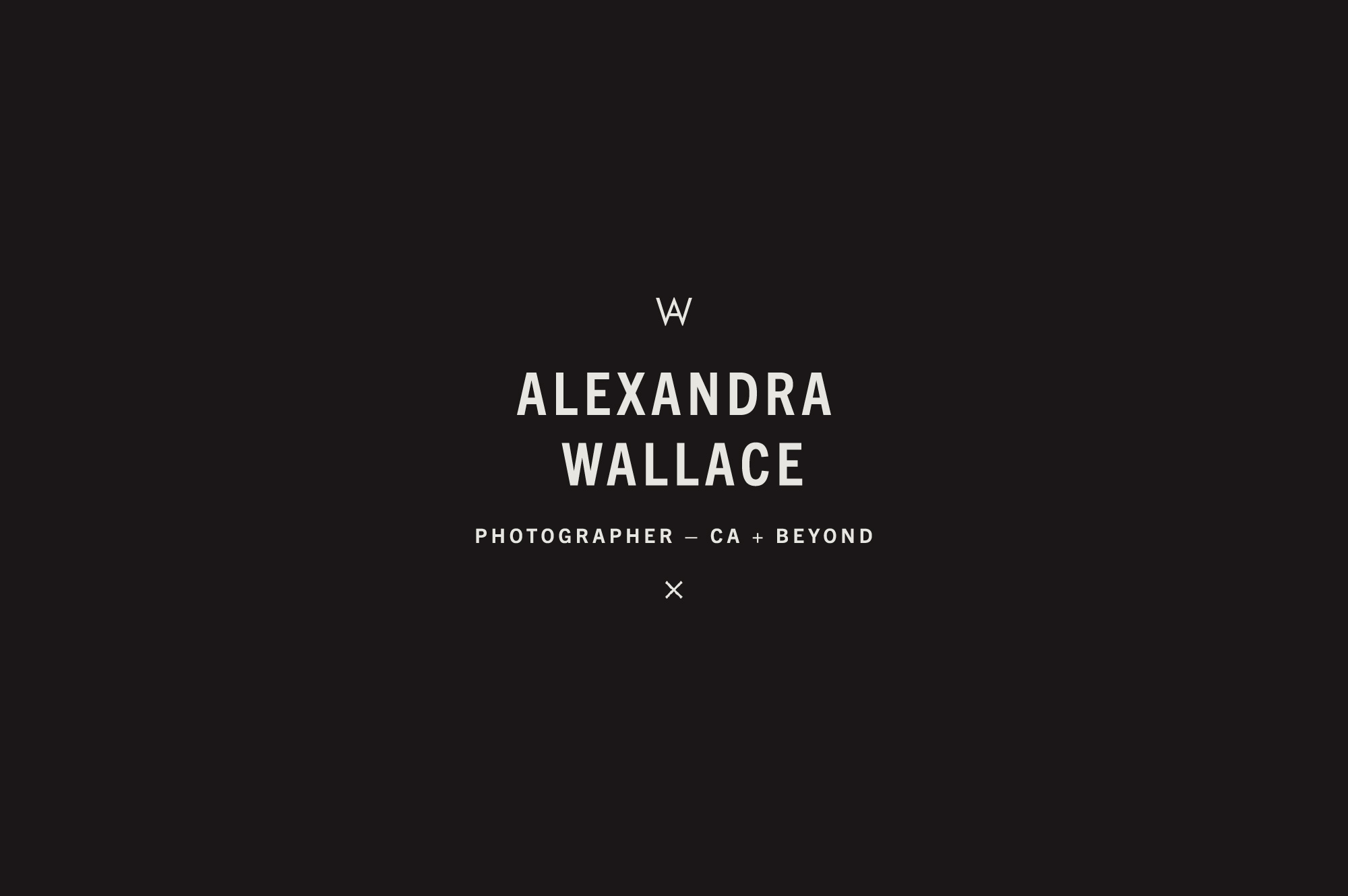 Brand Design for Editorial Style Fashion and Wedding Photographer Alexandra Wallace